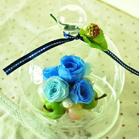 【フルーツドーム♪アップル&グレープ】プリザーブドフラワーのお店ムニュムニュ【Flower Munyu Munyu】