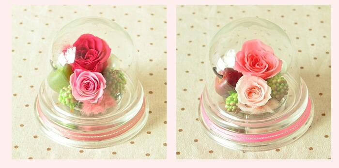【ルージュピンクとピンク】プリザーブドフラワーのお店ムニュムニュ【Flower Munyu Munyu】