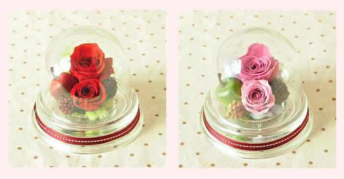 【レッド(赤)とパープル(紫)】プリザーブドフラワーのお店ムニュムニュ【Flower Munyu Munyu】