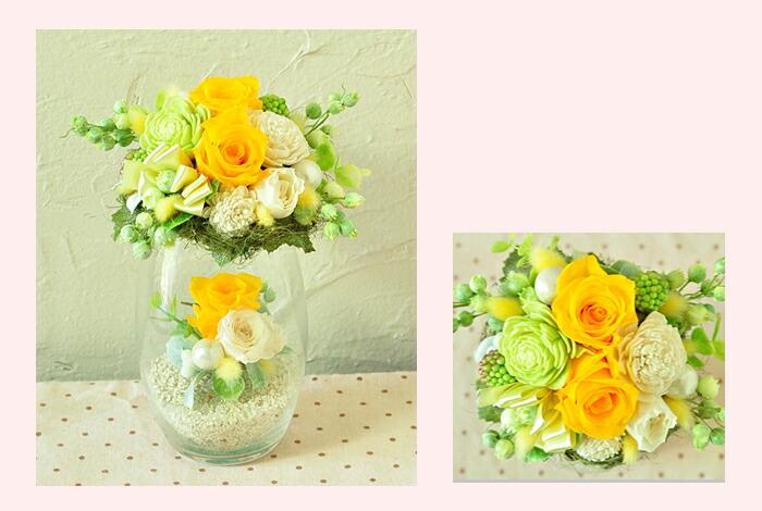 【イエロー(黄)】プリザーブドフラワーのお店ムニュムニュ【Flower Munyu Munyu】