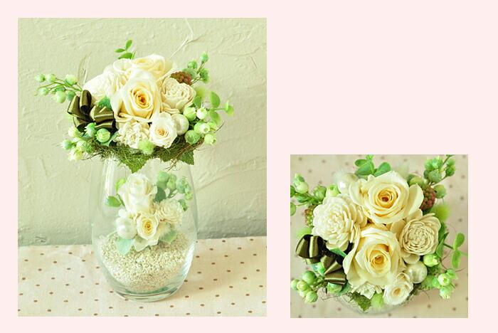 【ホワイト(白)】プリザーブドフラワーのお店ムニュムニュ【Flower Munyu Munyu】