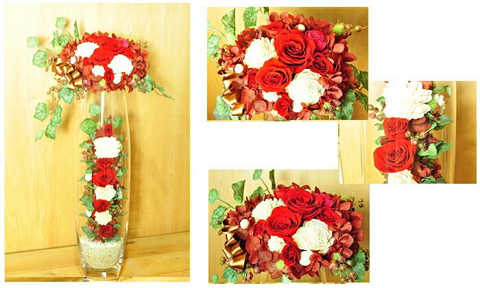 【レッド(赤)】プリザーブドフラワーのお店ムニュムニュ【Flower Munyu Munyu】