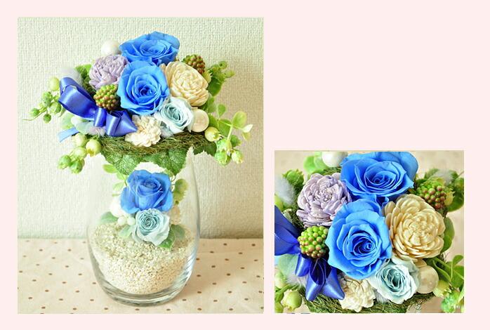 【ブルー(青)】プリザーブドフラワーのお店ムニュムニュ【Flower Munyu Munyu】
