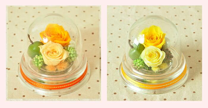 【 フルーティーオレンジ・イエロー(黄)】プリザーブドフラワーのお店ムニュムニュ【Flower Munyu Munyu】