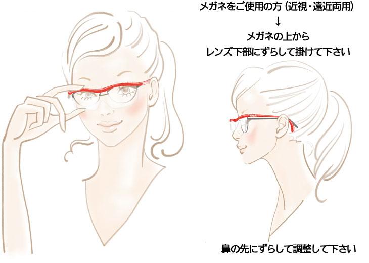 メガネをご使用の方(近視・遠近両用)
