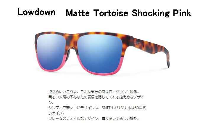 ab1d8f5162b5a LOWDOWN Matte Tortoise Shocking Pink  レンズ/Blue Flash Mirror  商品情報フレームカラーMatte  Tortoise Shocking PinkレンズカラーBlue Flash Mirror ...