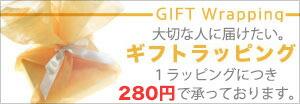 大切な人に送りたい ラッピングサービス270円