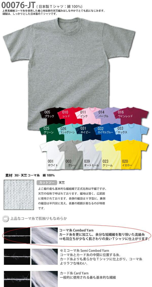 無地Tシャツ