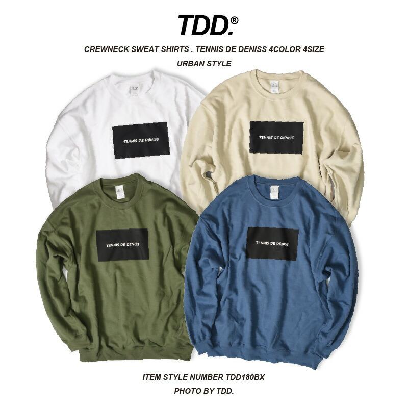 TDD.TOKYOの公式ブランドスウェットトレーナー。