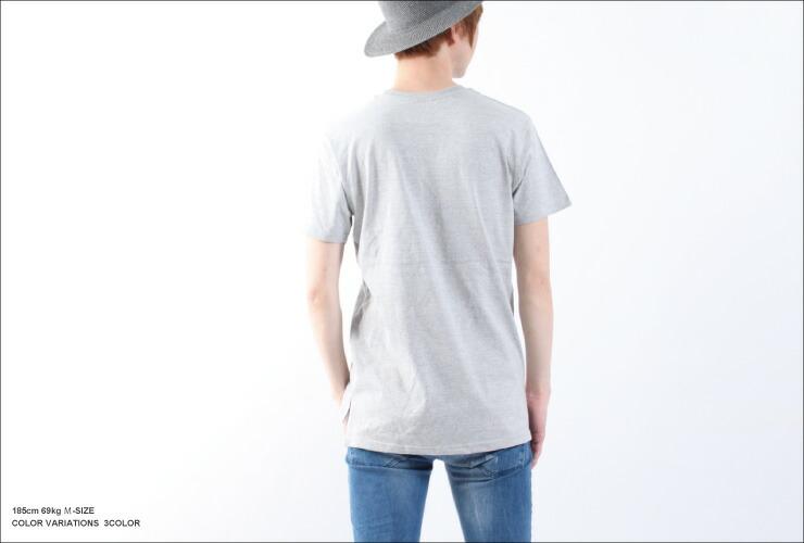 ロング丈Tシャツ 半袖 無地