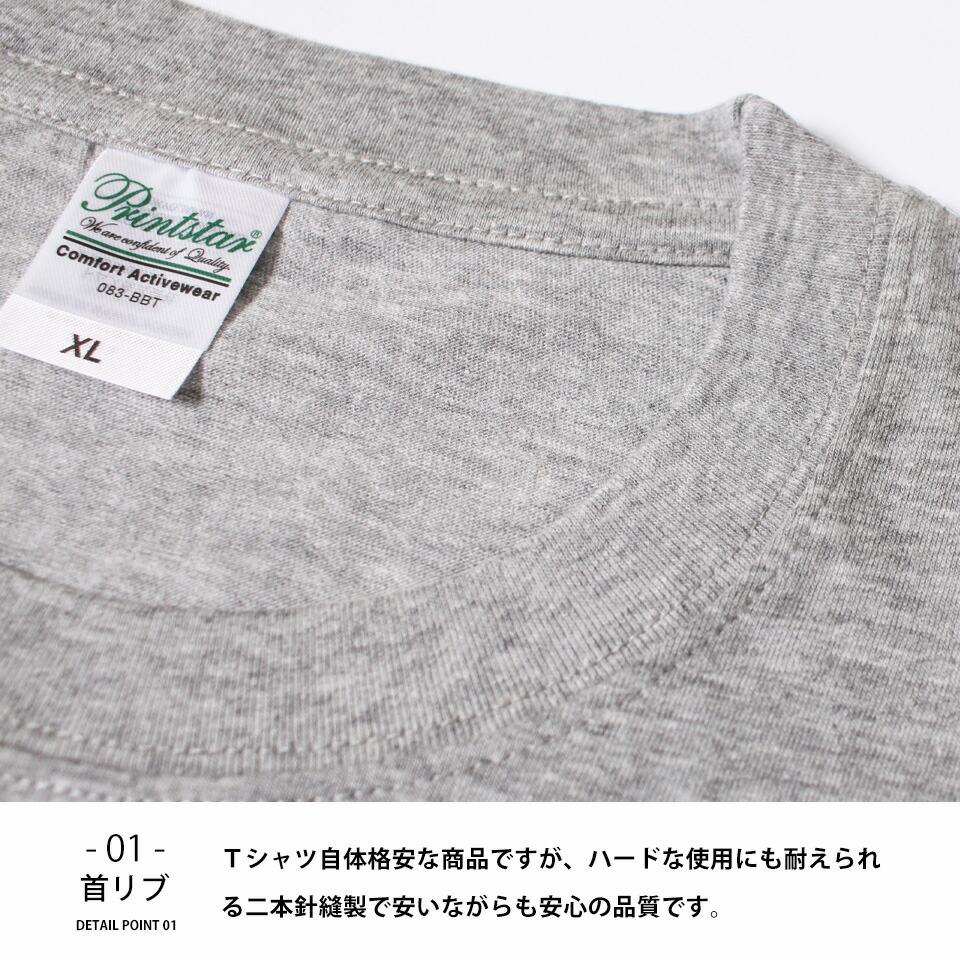 格安無地Tシャツの詳細