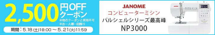 NP3000 2500円OFFクーポン配布中