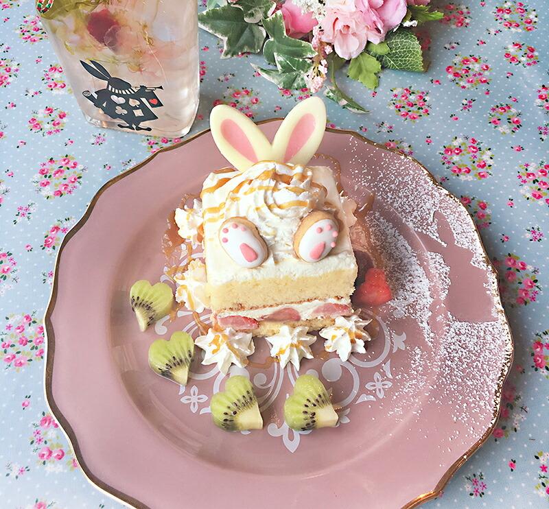 かわいいうさぎのデザートも人気です。。