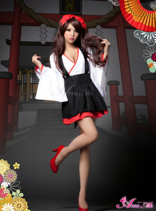 Mystylist Cosplay Priestess Kimono Mini-Length Kimono -3340