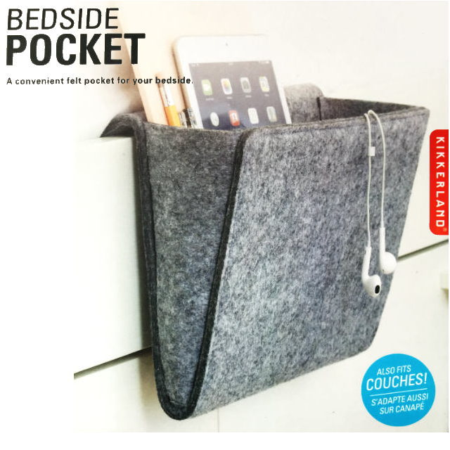 ベッドサイドポケット 収納 寝室 リモコン タブレット スマホ 本