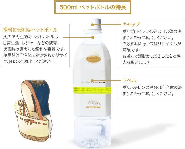500mlペットボトルの特長