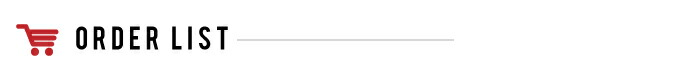 ORDER LIST - おもしろ名札工房の最新注文情報