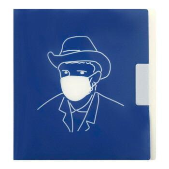 ちょい置き マスクケース 折りたたみ ゴッホ自画像