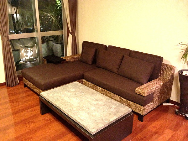 Nagi rakuten global market water hyacinth corner sofa for Cheapest furniture ever