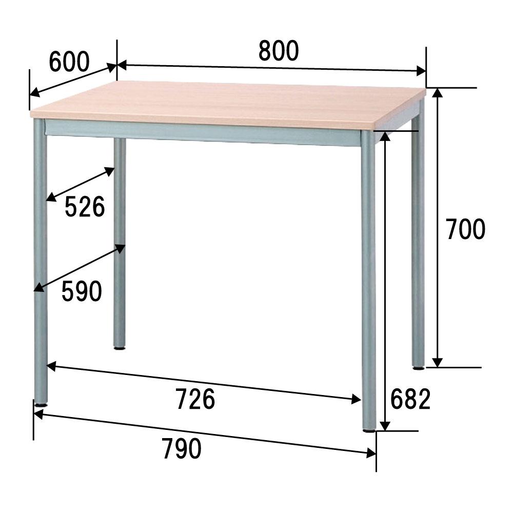 ユニットテーブル ダイニングテーブル ワーキングテーブル ワークデスク HEM-8060NMナチュラル木目
