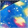 【男の子向き】【オックスプリント】宇宙・コスモ・銀河系☆カラフルなガスと輝く星