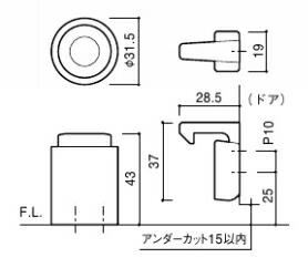 ドアキャッチャー図 CAD
