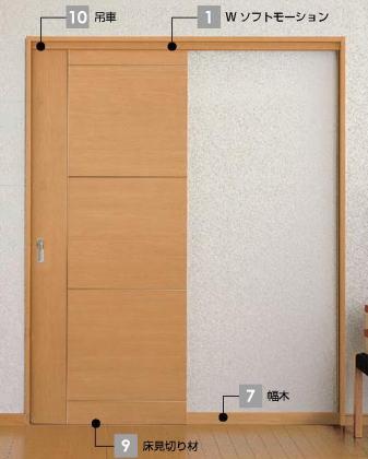 ウッディライン 室内引戸 吊戸方式 片引戸