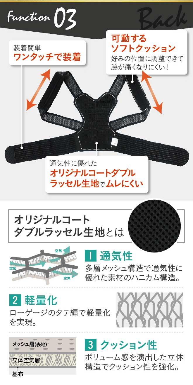猫背、巻き肩、肩こりにお悩みなら姿勢サポーターPlus