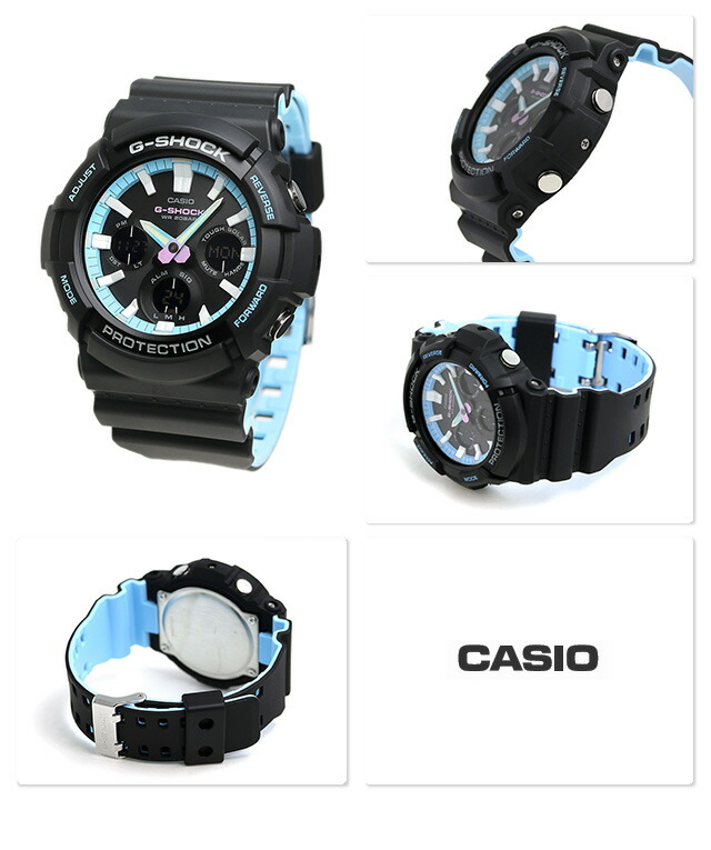 nanaple  G-SHOCK special color neon accent color watch GAS-100PC ... ff37f887ac6