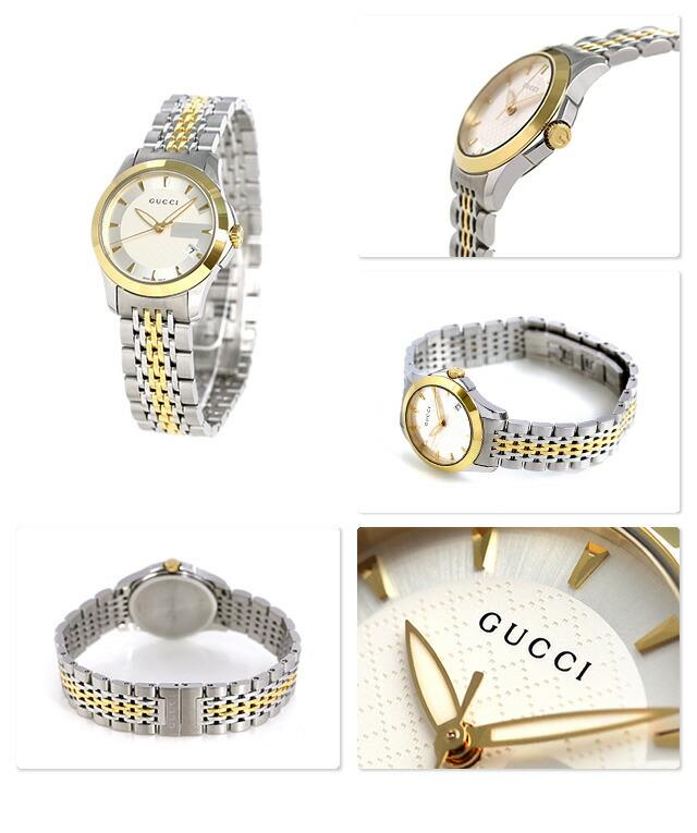 1bae9efdca4 nanaple  Gucci clock Lady s GUCCI watch G thymeless 27mm silver X ...