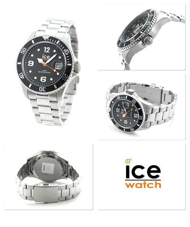 nanaple ice watch ice watch ice steel black medium 016031. Black Bedroom Furniture Sets. Home Design Ideas