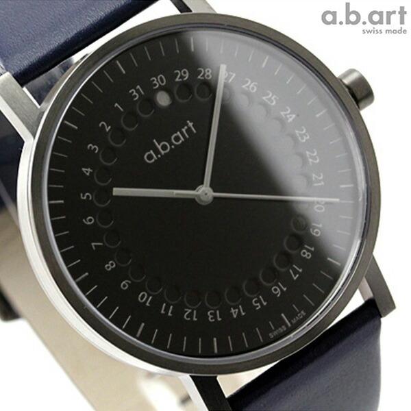 B Art: Nanaple: AB Art Watch O Series Dot Calendar Black X Blue