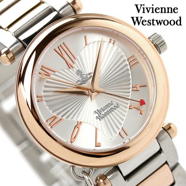 ヴィヴィアン・ウエストウッド腕時計レディースオーブシルバー×ピンクゴールドVivienneWestwoodVV006RSSLヴィヴィアン・ウエストウッド