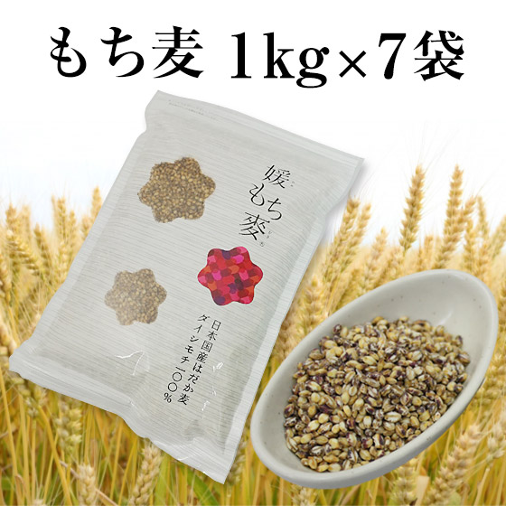 国産 もち麦 1kg×7
