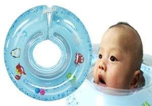 ベビースイマーとは、赤ちゃんの首に付けて使用する浮き輪です
