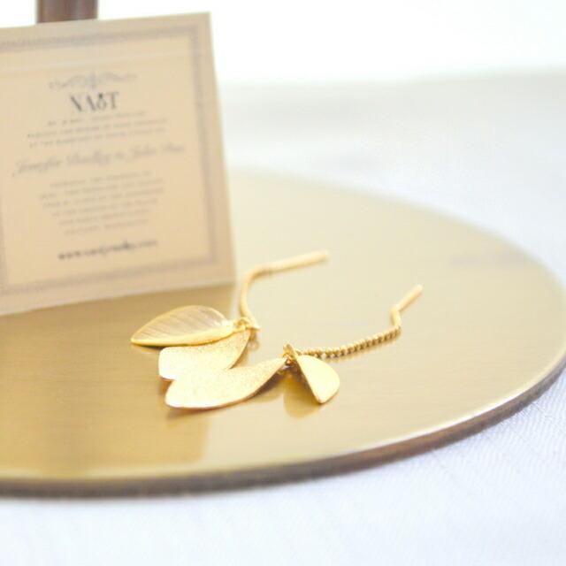 Naotjewelry: Leaf American Earrings Gold Gift Presents