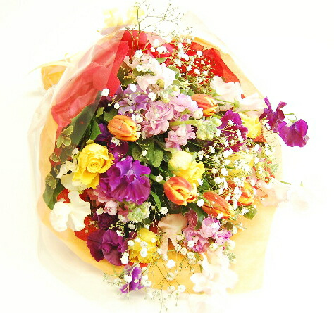 おまかせ季節の花束30本