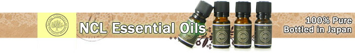 NCL Essential Oils. 100% Pure. Bottled in Japan.