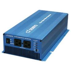 DC->ACインバータ 1500W 正弦波 DENRYO SK1500-112 (入力DC12V) 「ヒューズ付き配線 1mセット」