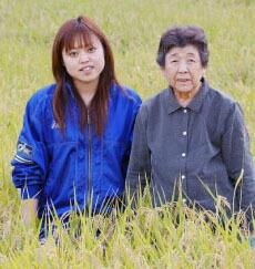 須田ミヱ子さんとわかなさん