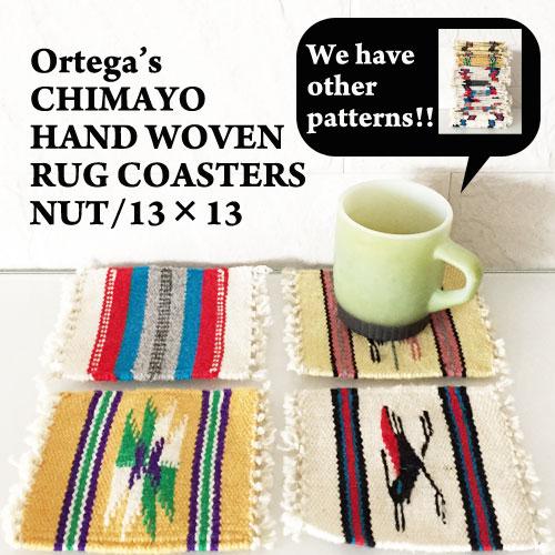 NAVIE: Ortega's Chimayo Rug Coaster Mat /NATURAL System
