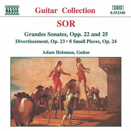 ソル(1778-1839): グランド・ソナタ Op.22・Op.25/ ディヴェルティメント集 Op.23/ 8つの小品集 Op.24