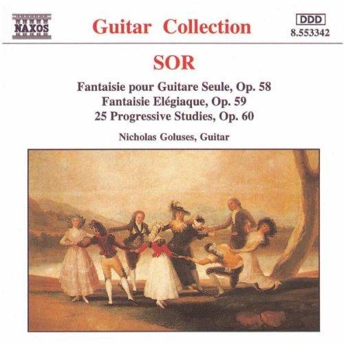 ソル(1778-1839): ギター独奏のための幻想曲 Op.58/ 悲しみのファンタジア Op.59/ 25の初級練習曲 Op.60