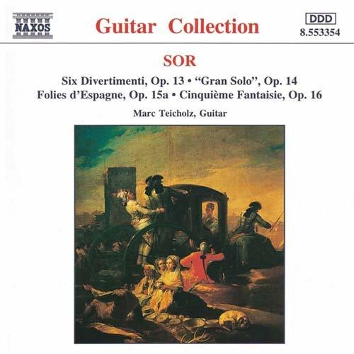 ソル(1778-1839): 6つのディヴェルトメント Op.13/ 序奏とアレグロ 二長調「グラン・ソロ」 Op.14 他