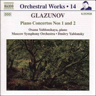 グラズノフ(1865-1936): 管弦楽曲全集 第14集 ピアノ協奏曲 第1番・第2番