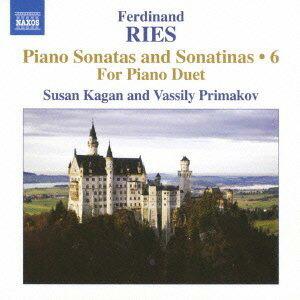 リース(1784-1838): ピアノ・ソナタとソナチネ全集 第6集 〜  4手のための作品集