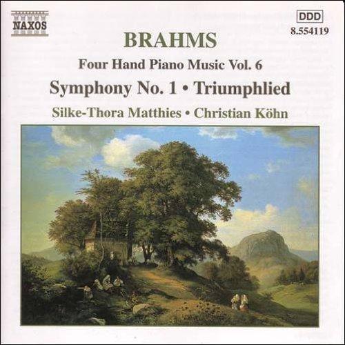 ブラームス(1833-1897): 4手のためのピアノ作品集 第6集  交響曲 第1番 ハ短調/ 勝利の歌