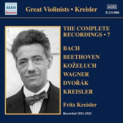 クライスラー(1875-1962): 〈完全録音集 第7集〉1921-1925