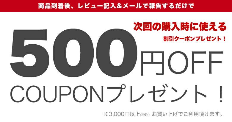 レビューを書いて、500円OFFクーポンGET!