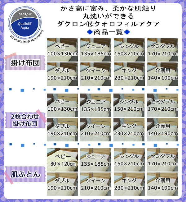 ダクロン・クォロフィル・アクアの商品一覧